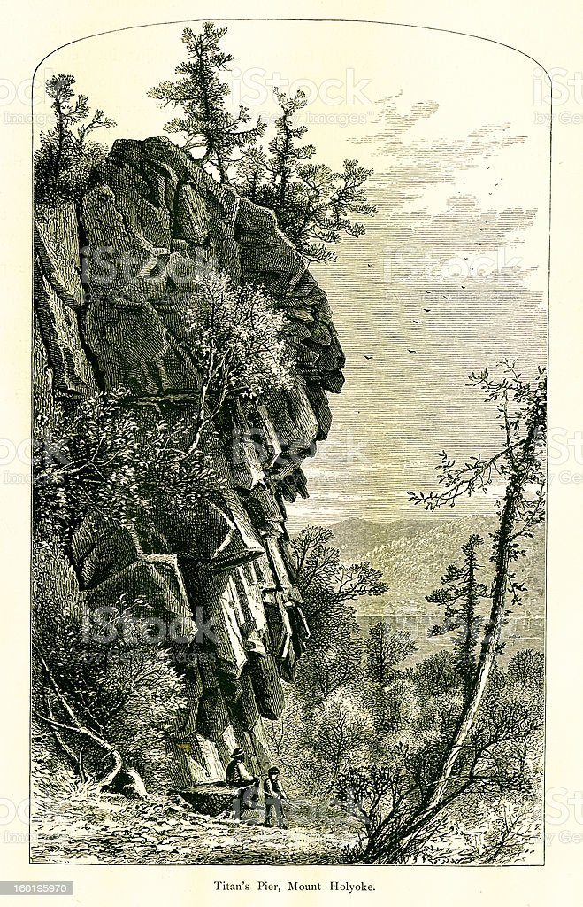 Mount Holyoke, Massachusetts royalty-free stock vector art