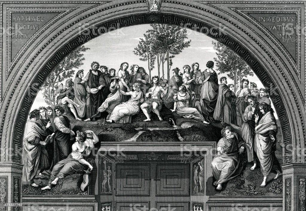 Mount Parnassus vector art illustration