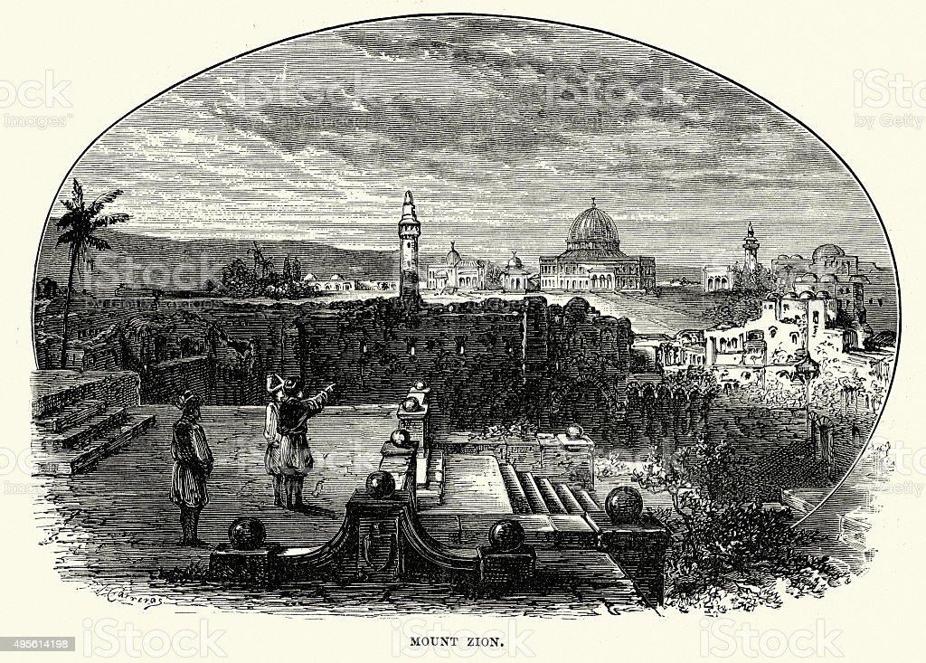 Mount Zion vector art illustration