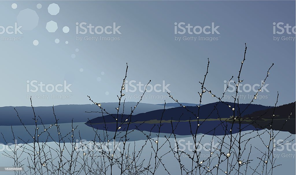 Mountain after rain royalty-free stock vector art