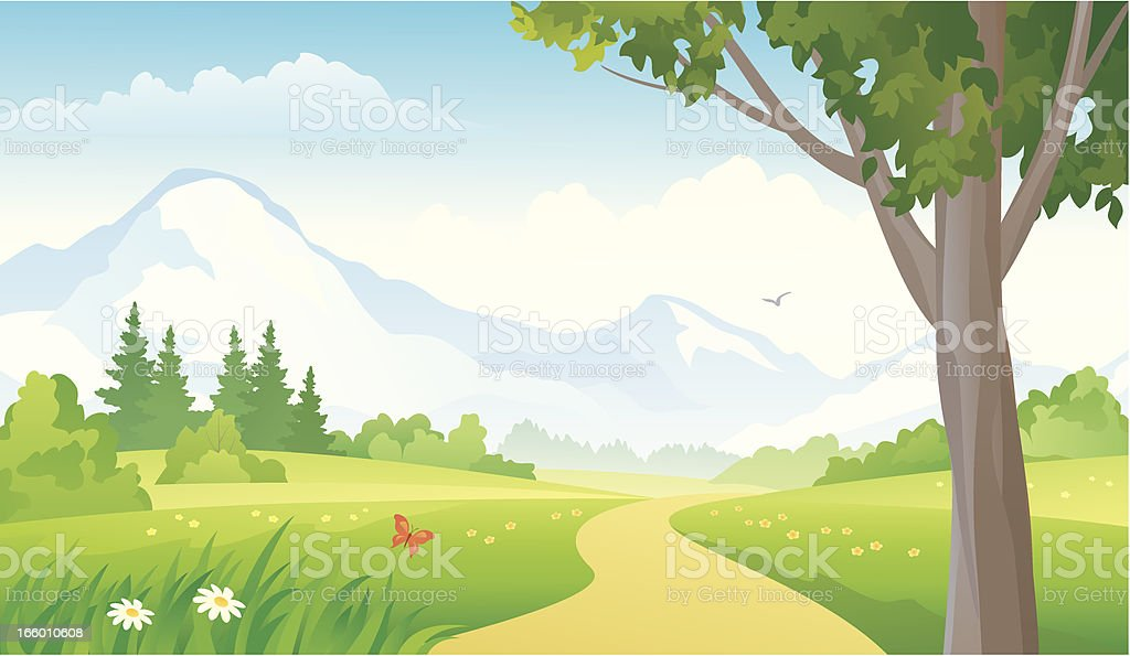 Mountain landscape royalty-free stock vector art