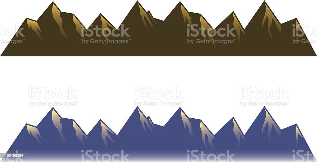Mountain range. royalty-free stock vector art