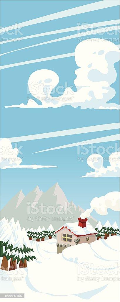 mountain scene royalty-free stock vector art