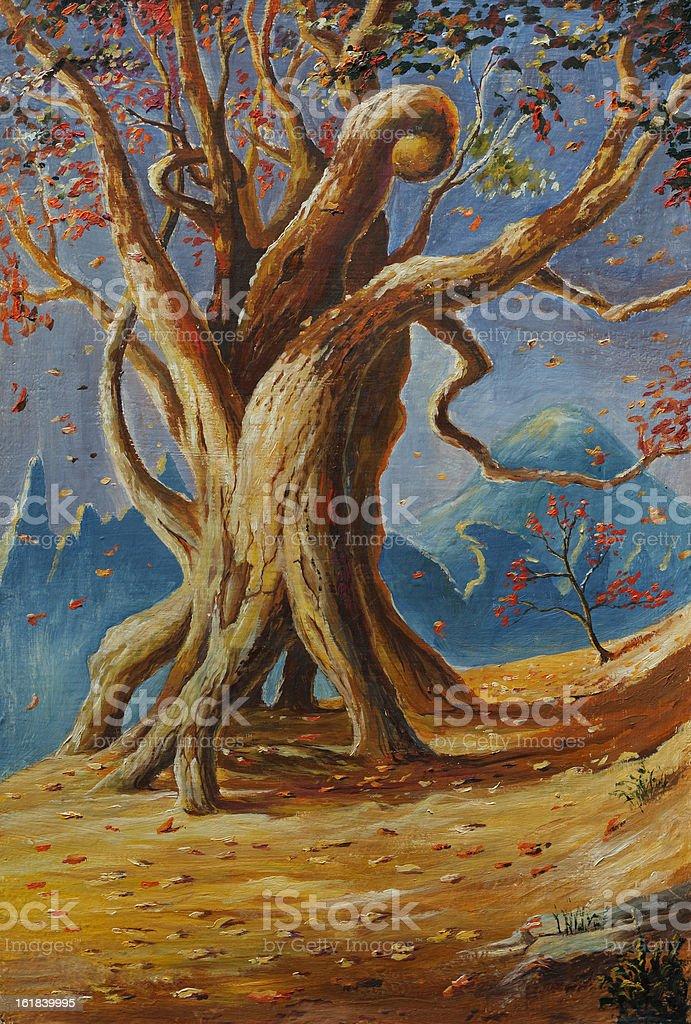 Mountain tree royalty-free stock vector art