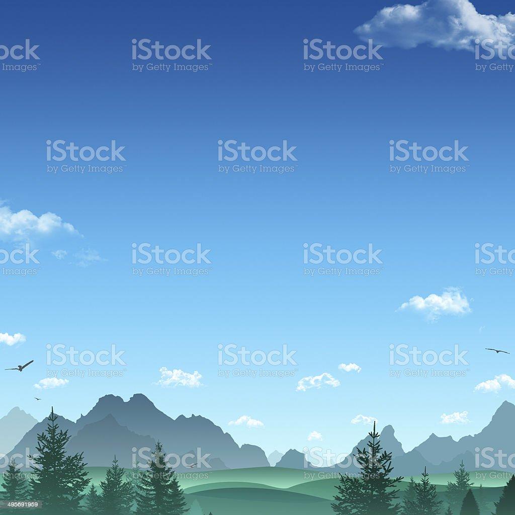 Mountains Illustration royalty-free stock vector art