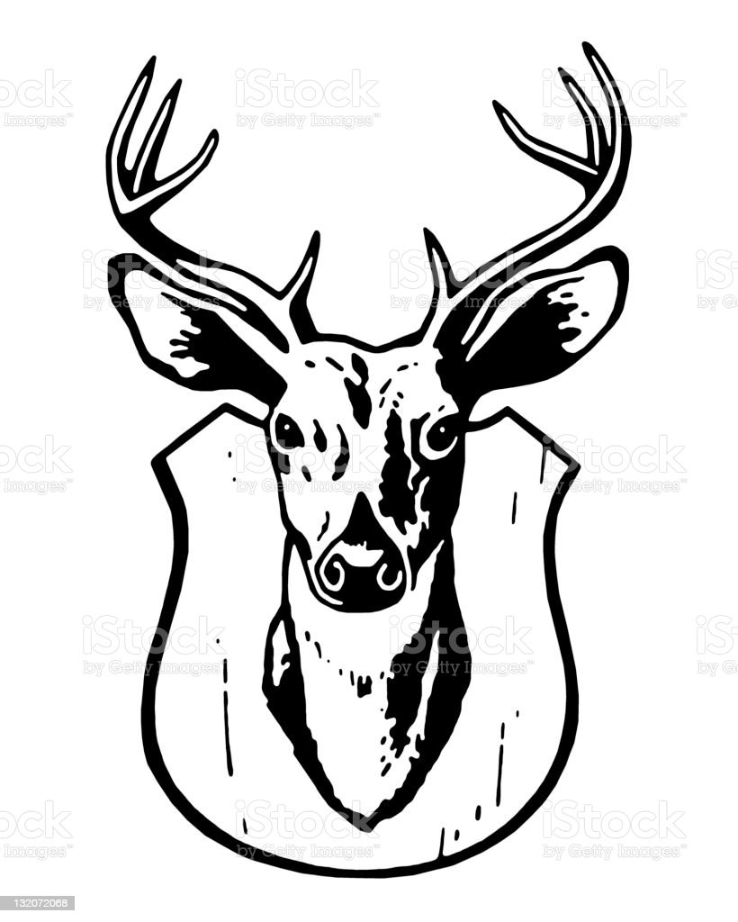 Mounted Deer Head royalty-free stock vector art