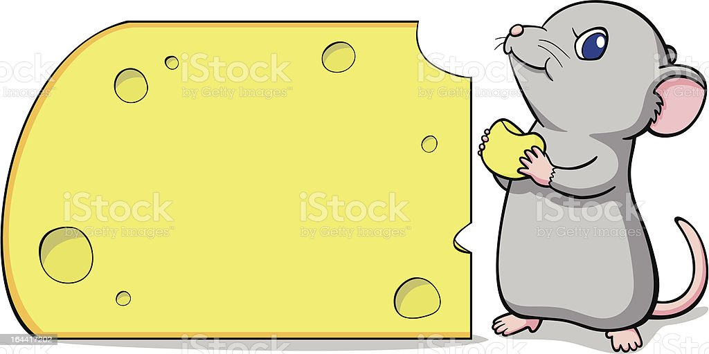 mouse and cheese royalty-free stock vector art