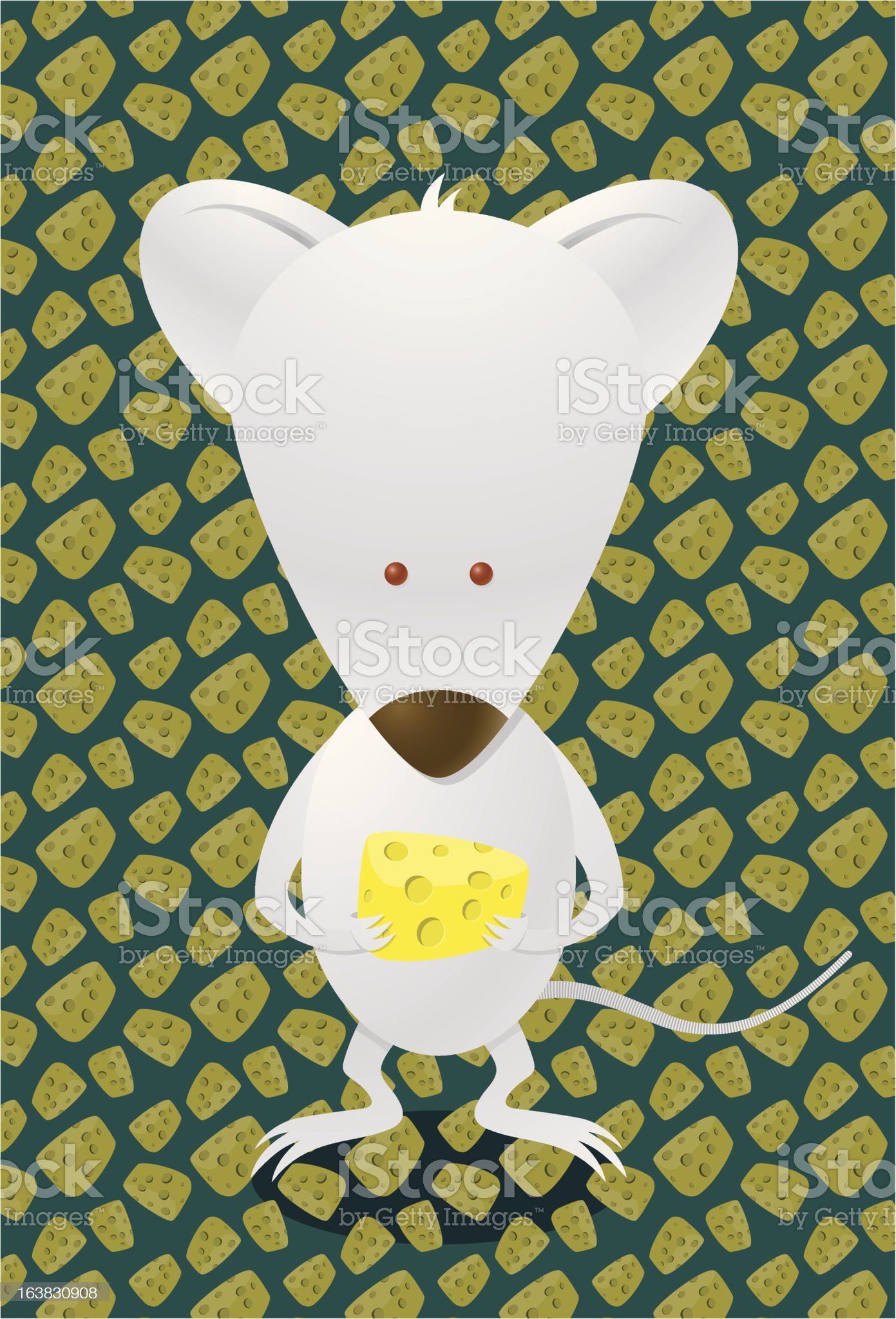 Mouse Cheese royalty-free stock vector art