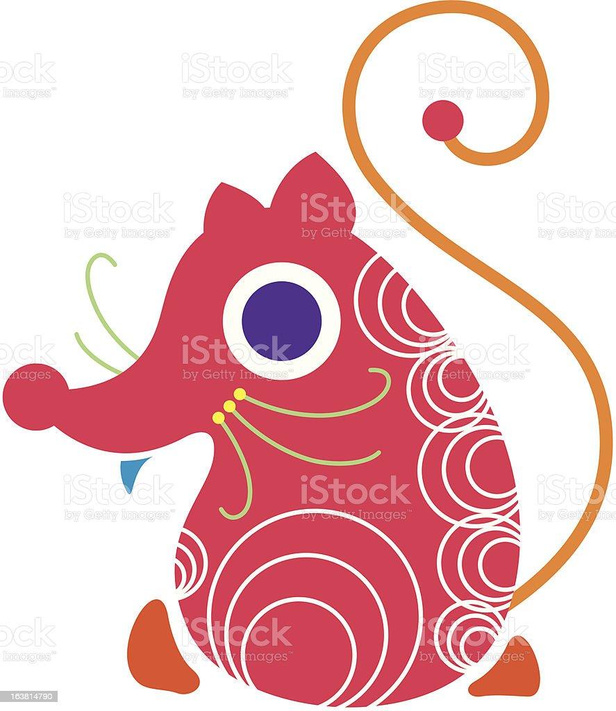 Mouse vector art illustration