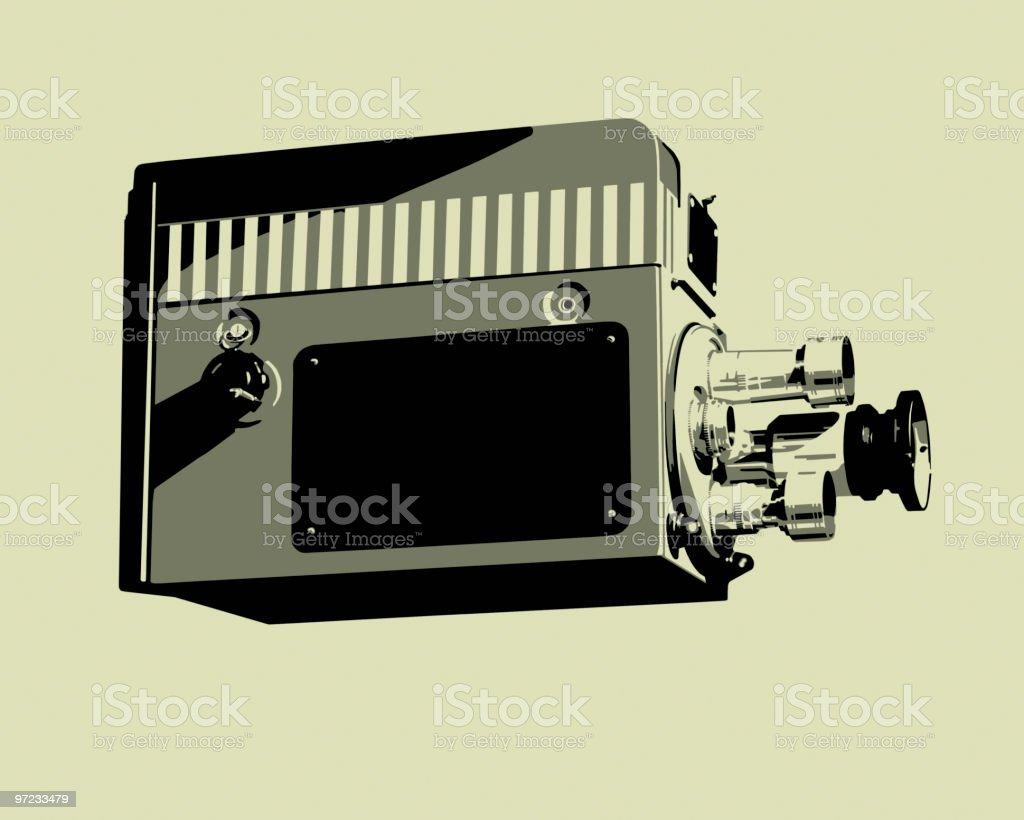 Movie Camera royalty-free stock vector art