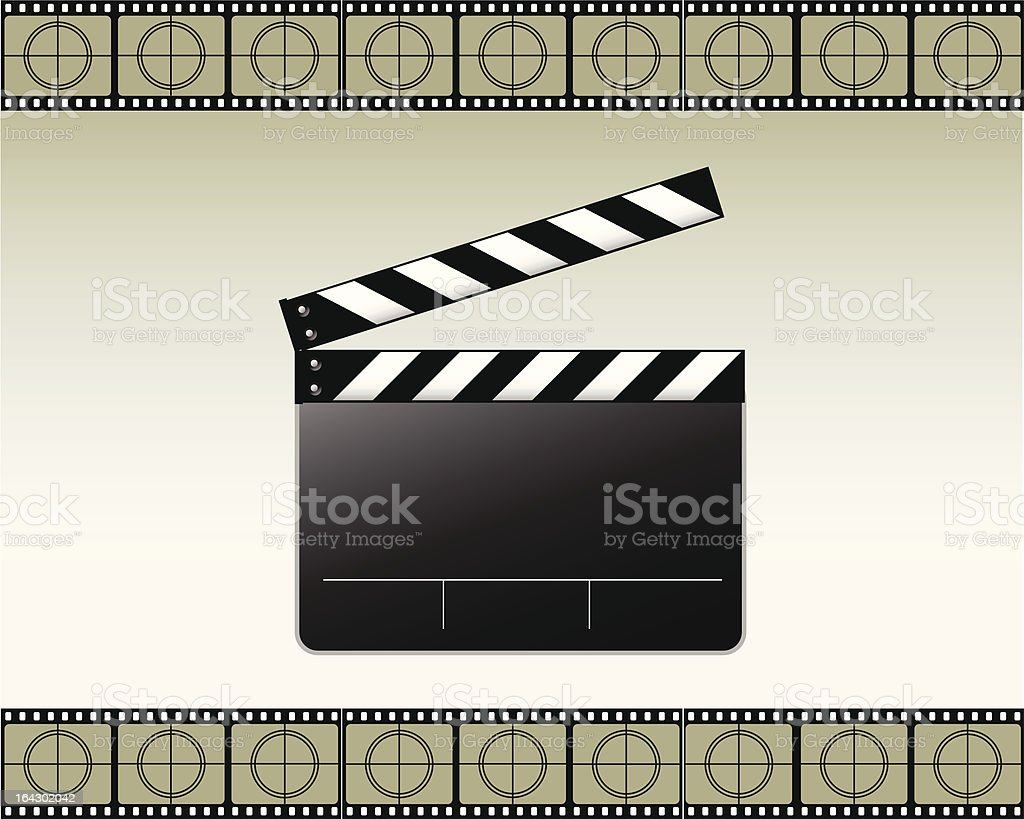 Movie clapper vector vector art illustration