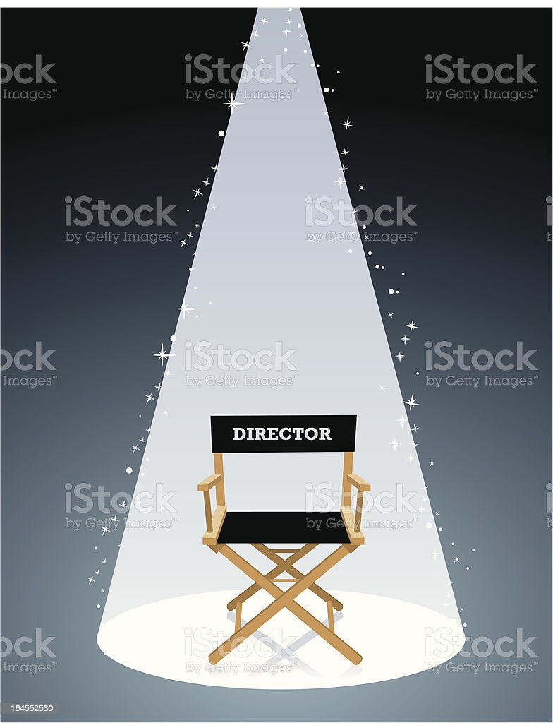 Movie Director Chair vector art illustration
