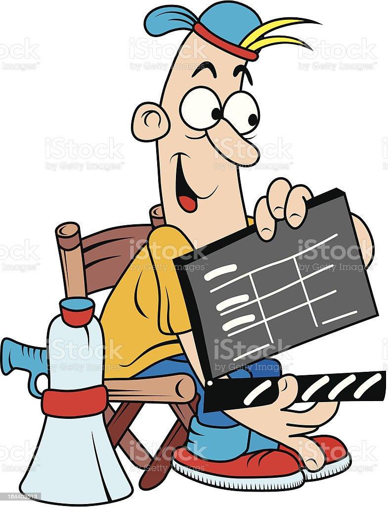 Movie director royalty-free stock vector art