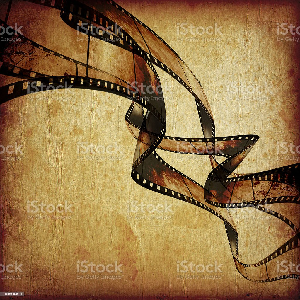 movie frames or film strip vector art illustration