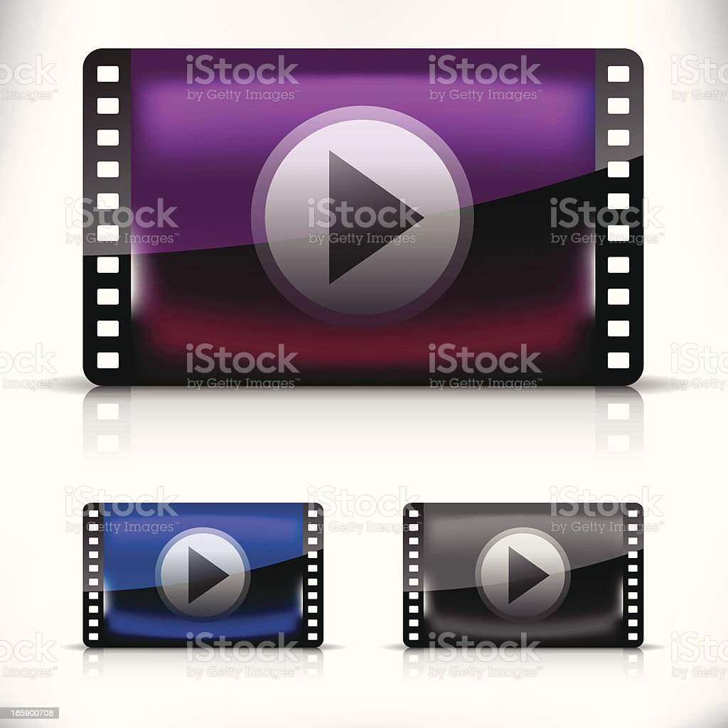 Movie player icon. royalty-free stock vector art