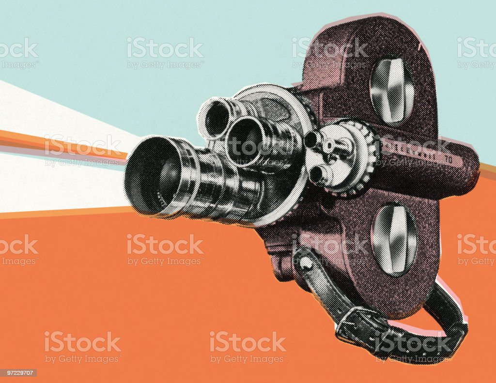 Movie projector royalty-free stock vector art