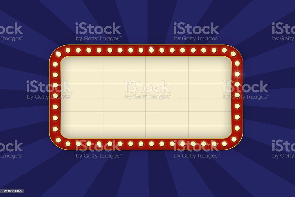 Movie sign. vector art illustration