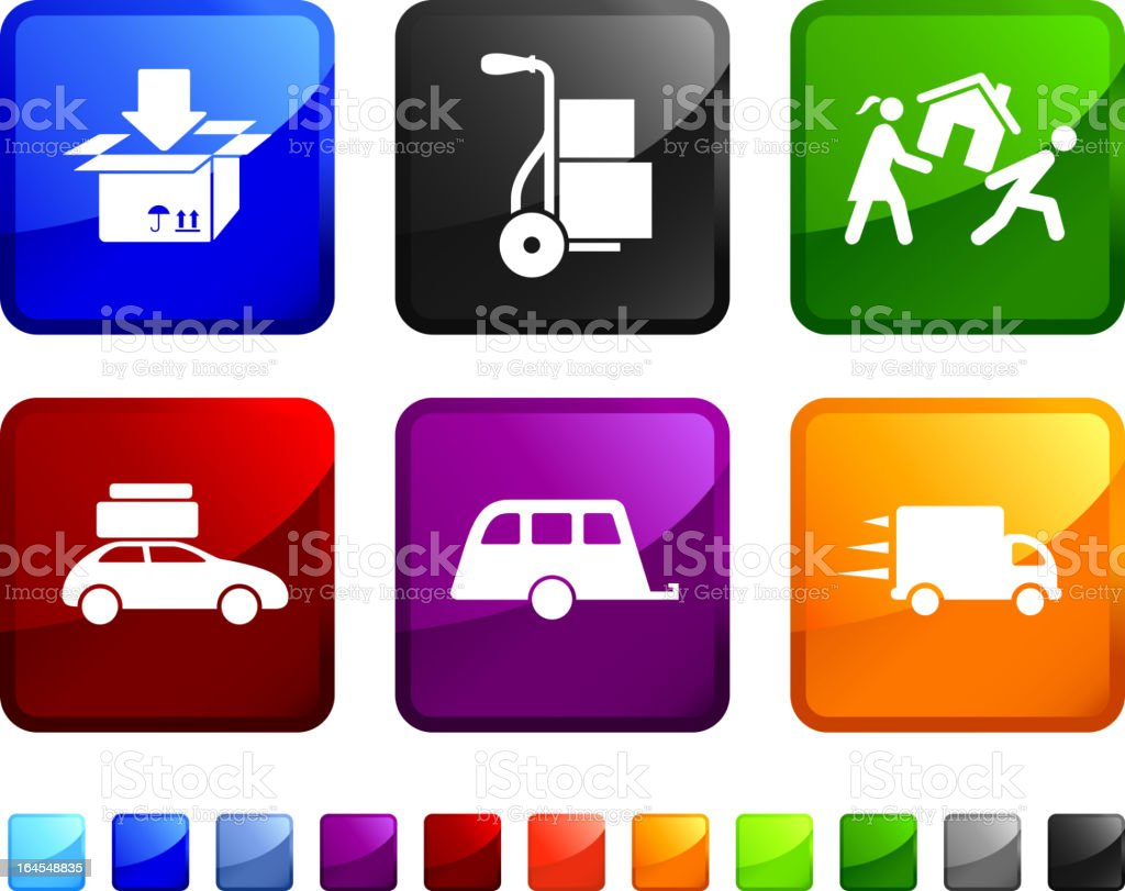 moving house royalty free vector icon set stickers royalty-free stock vector art