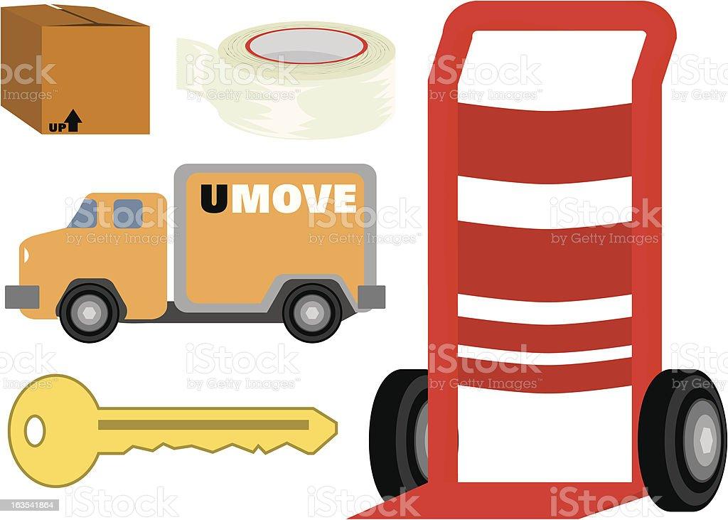 Moving Kit royalty-free stock vector art