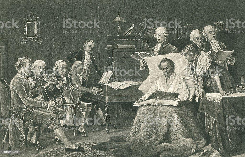 Mozart vector art illustration