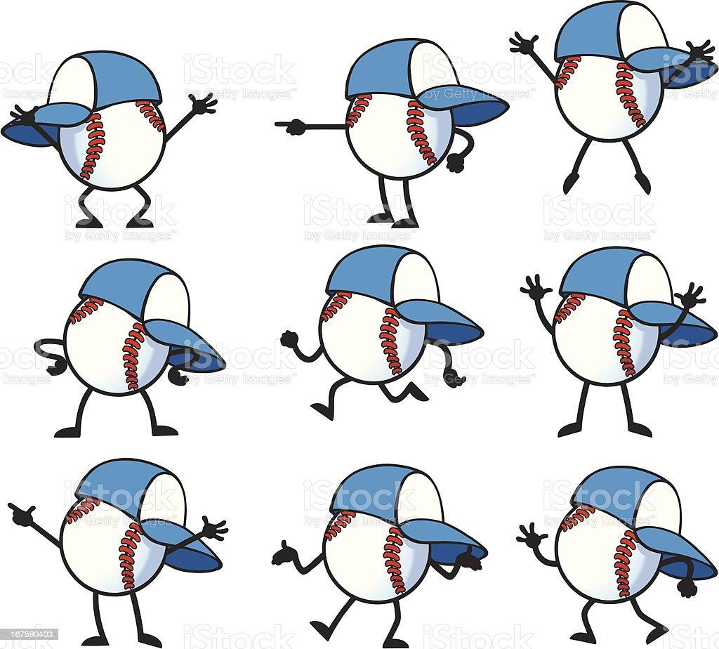 Mr Baseball vector art illustration