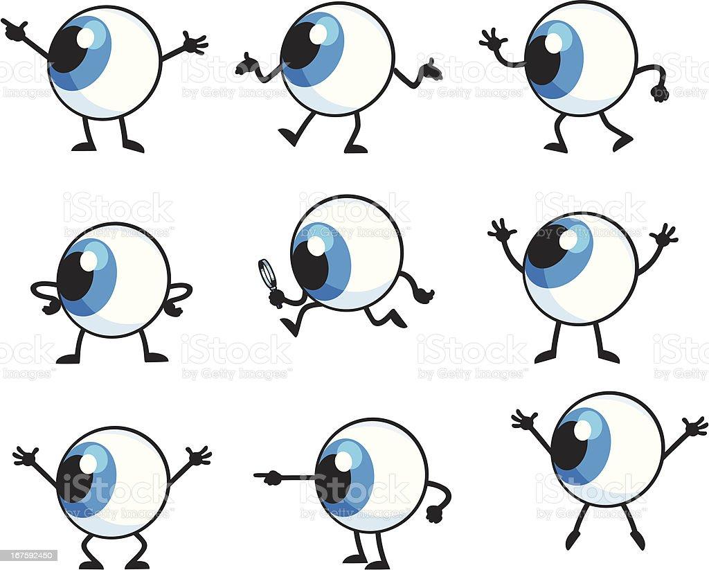 Mr Eye royalty-free stock vector art