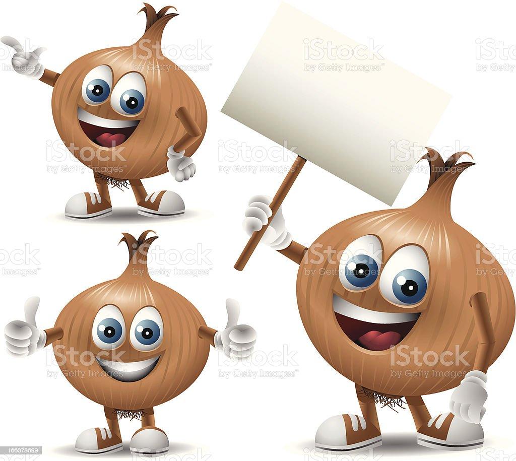 Mr. Onion: 3 in 1 vector art illustration