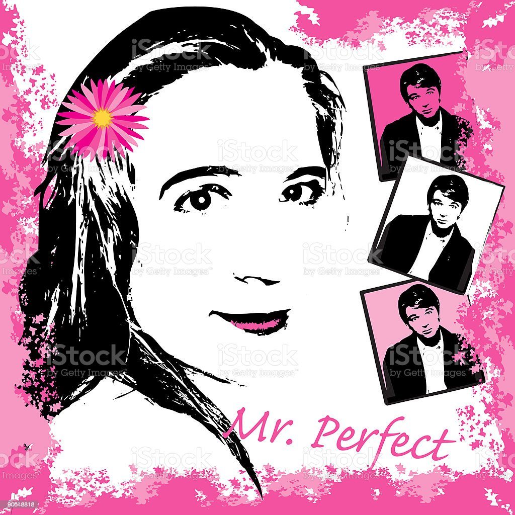 Mr. Perfect vector art illustration