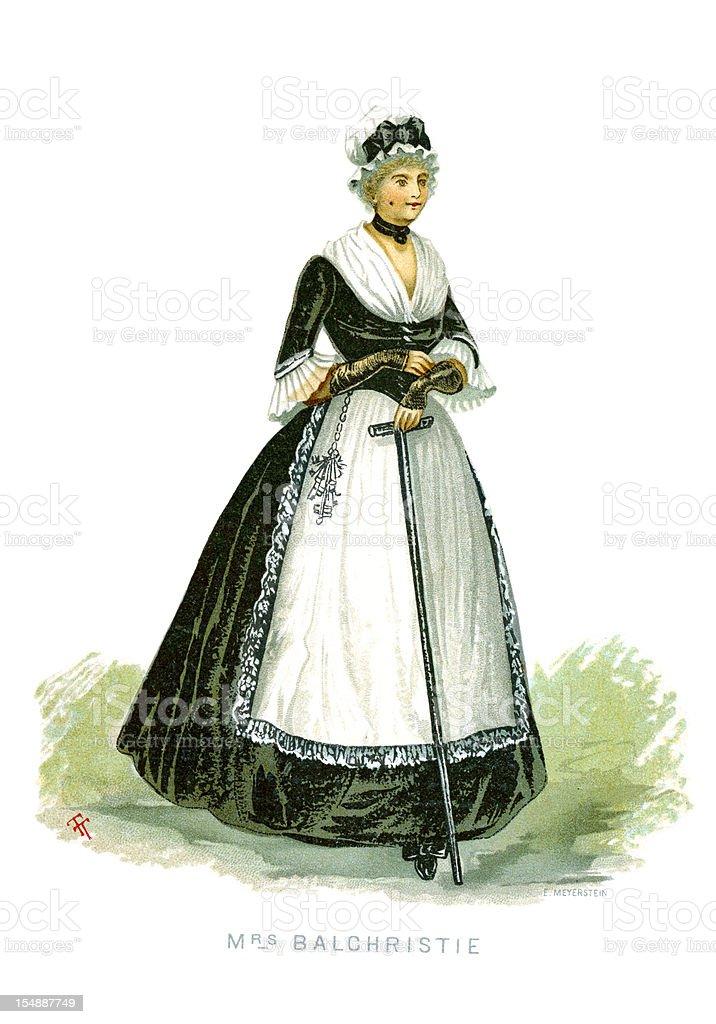 Mrs Balchristie vector art illustration