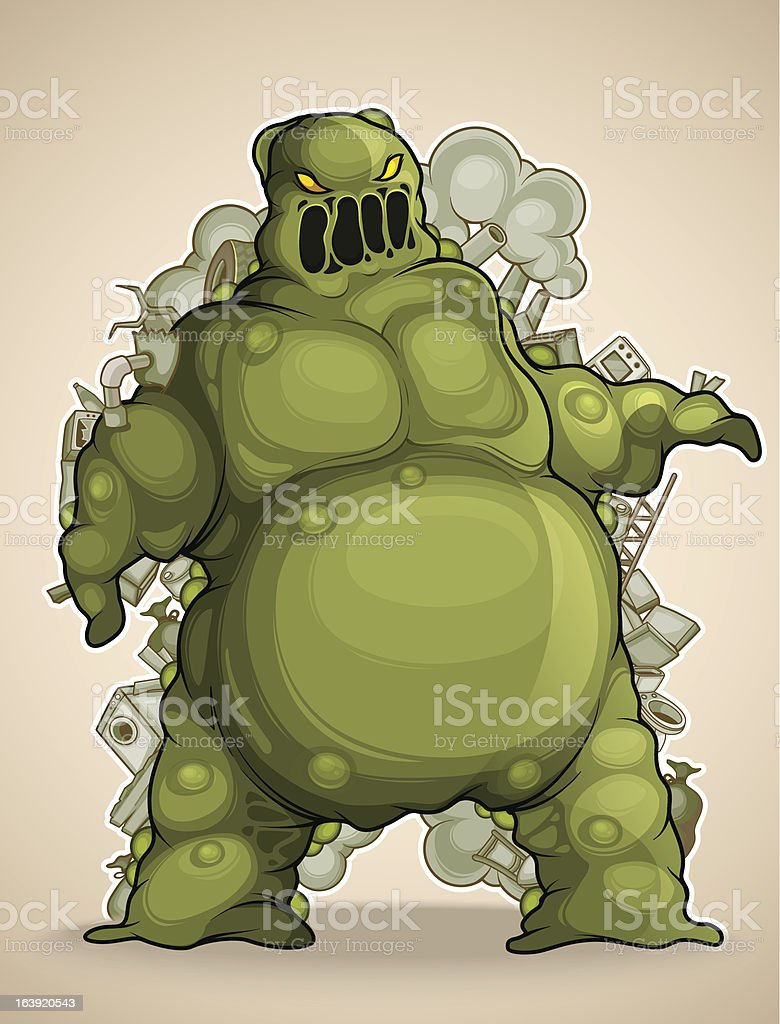 Mud monster royalty-free stock vector art