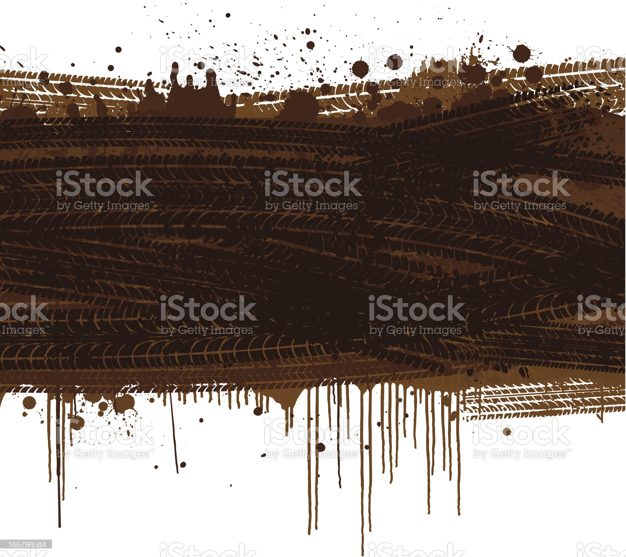 Muddy tracks background royalty-free stock vector art