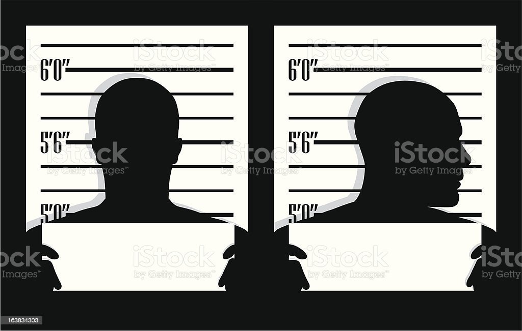 mug shot vector art illustration
