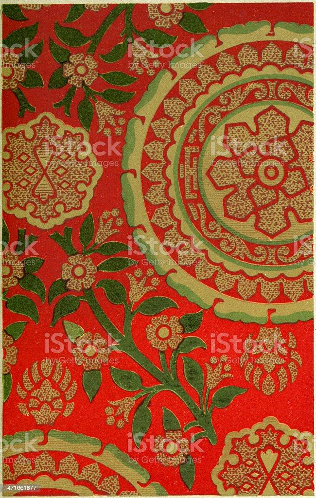 Mullion Pattern - 15th Century vector art illustration