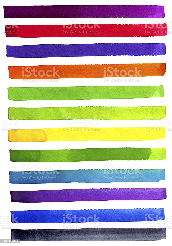 Multi color lines royalty-free stock vector art