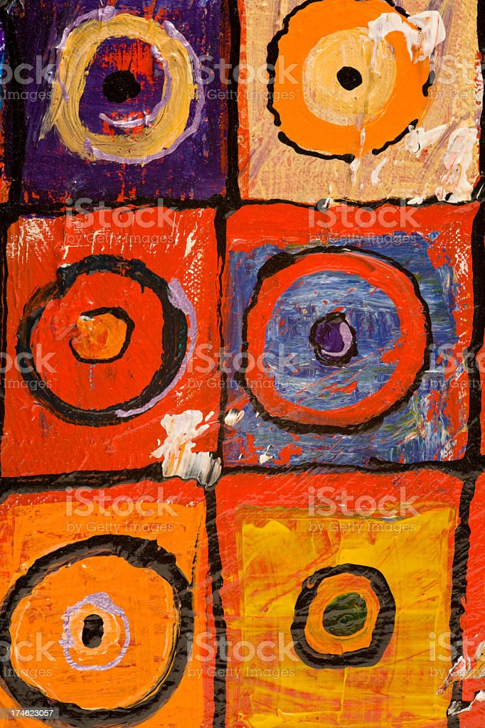 Multi colored acrylic artwork close up detail technique and texture royalty-free stock vector art
