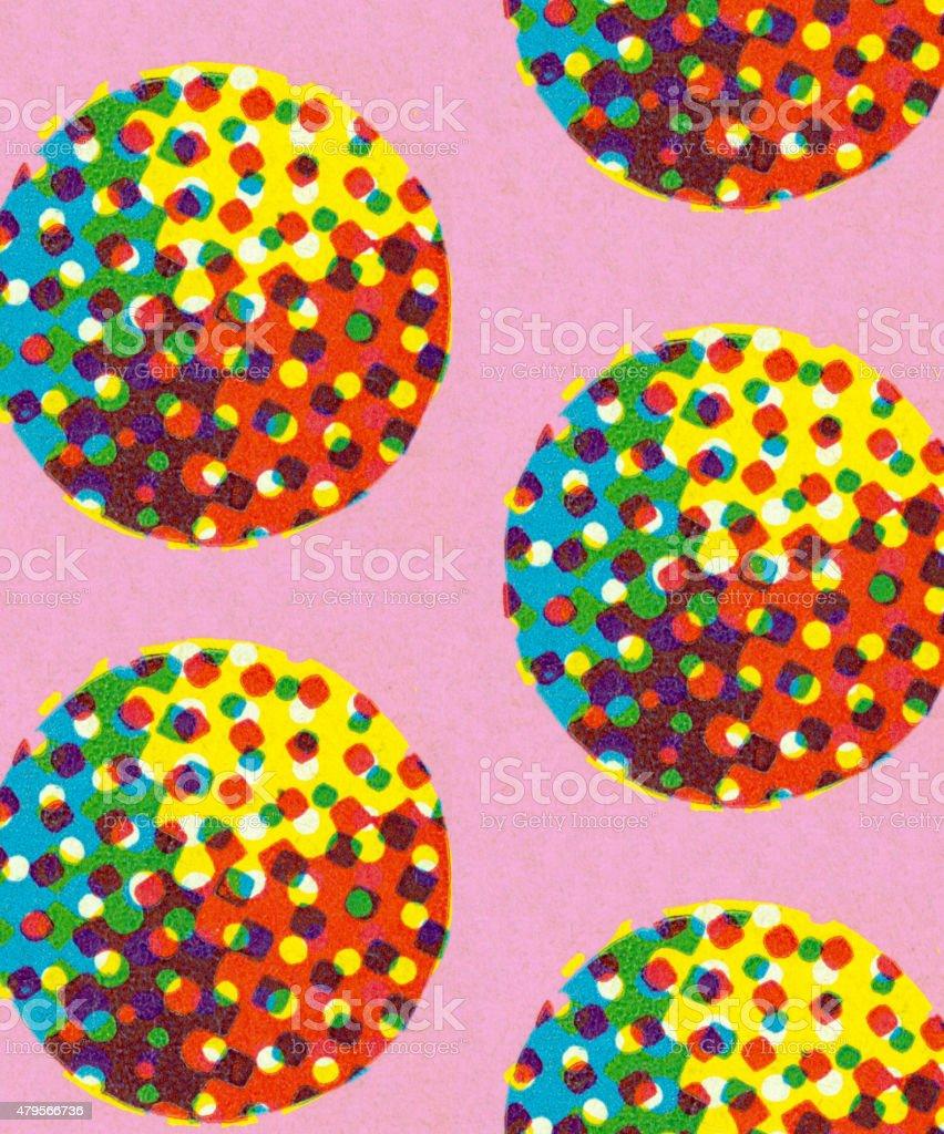 Multi Colored Dots vector art illustration