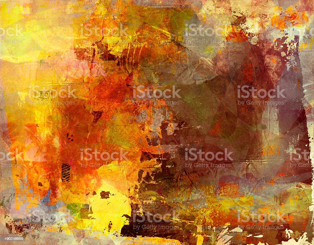 multicolor fall mixed media vector art illustration