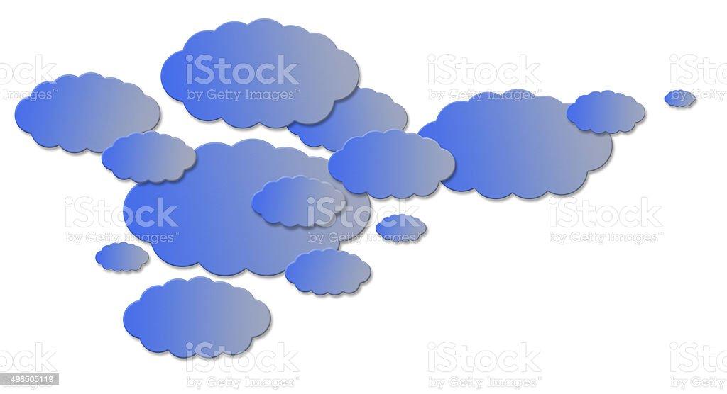Multicolor paper cloud. royalty-free stock vector art