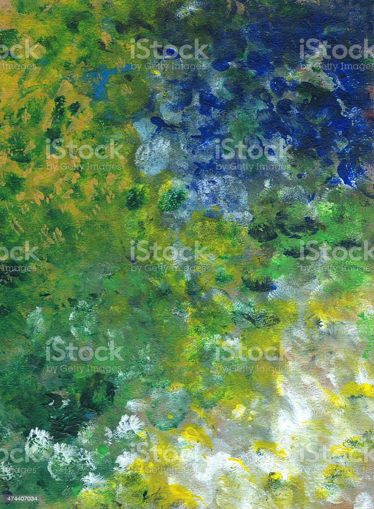 Multicolored abstract vertical background. acrylic painted vector art illustration