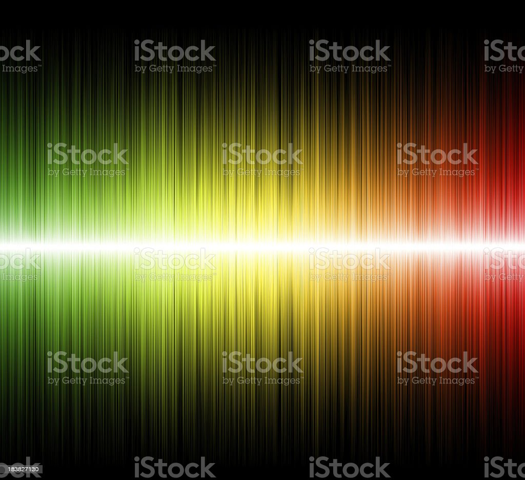 Multicolored abstract waves vector art illustration