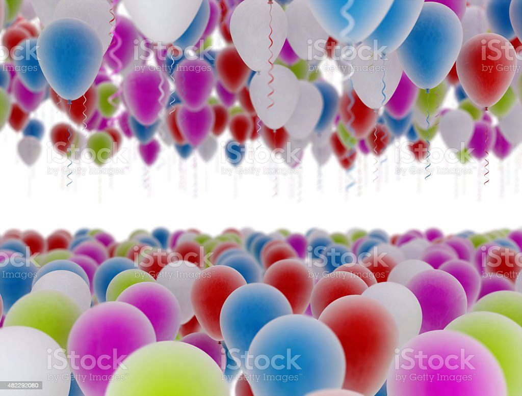 Multicolored Balloons vector art illustration