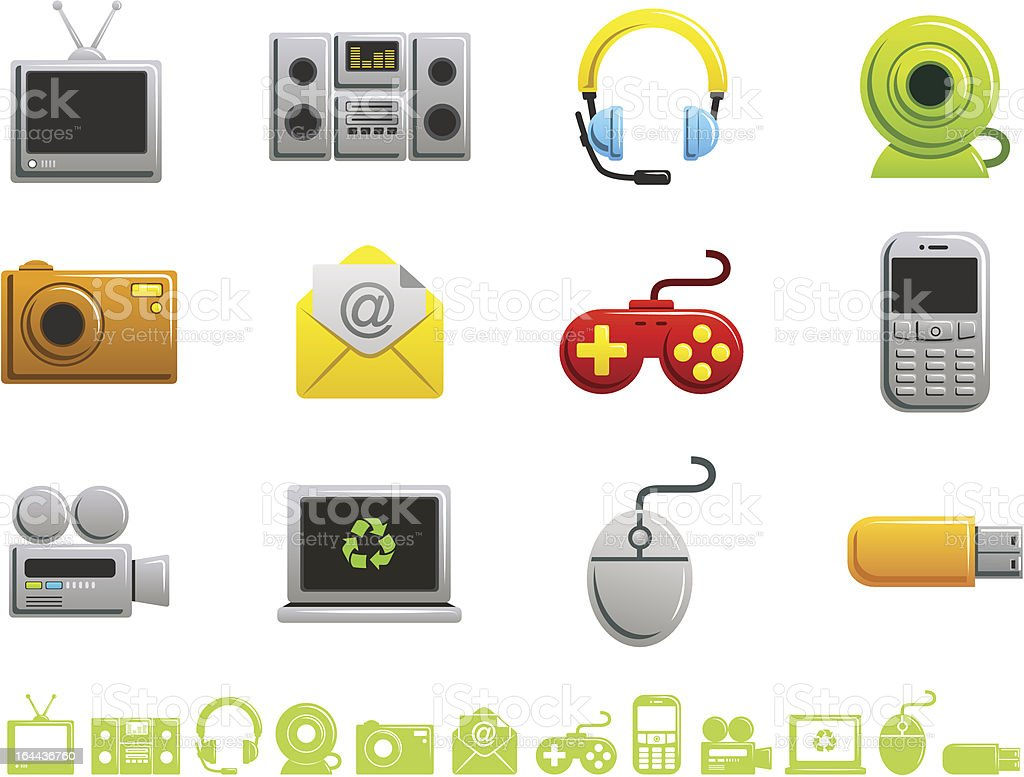 Multimedia Icons - Duo Series royalty-free stock vector art