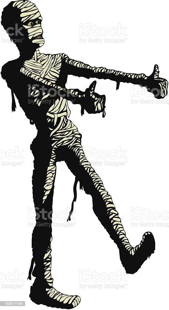 Egyptian mummy dances in his bandages. Clip art : Istockphoto