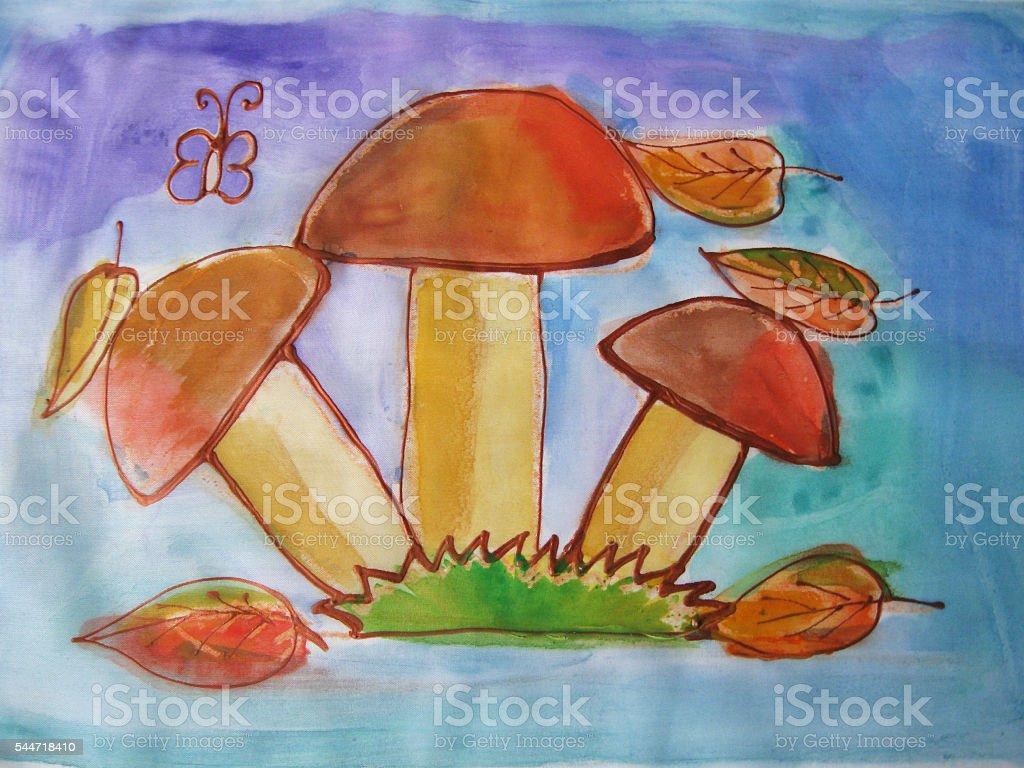 Fungo disegno ad acquerello illustrazione royalty-free