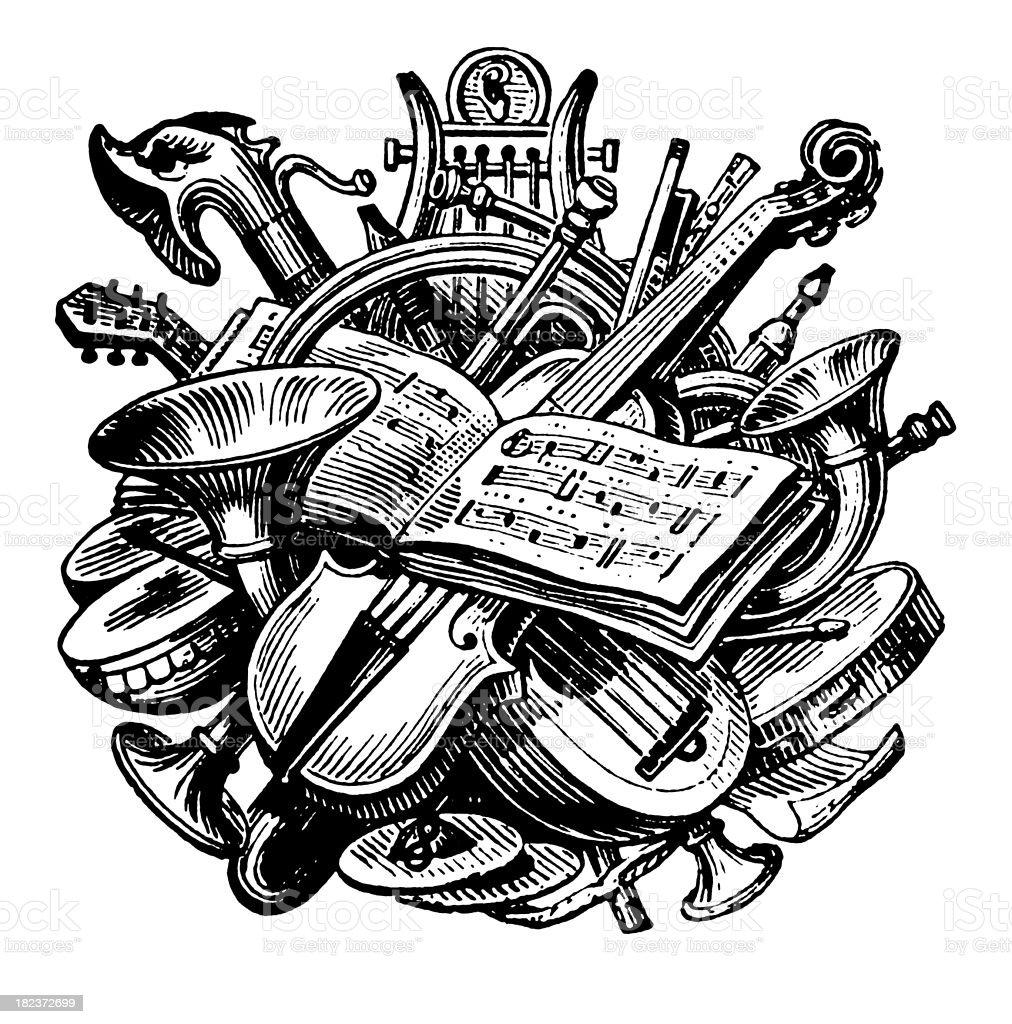 Music | Antique Design Illustrations royalty-free stock vector art