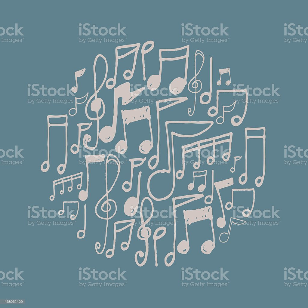 Music background royalty-free stock vector art