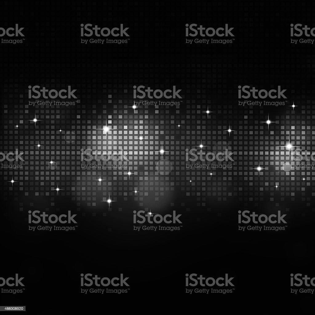 Music Black and White Equalizer vector art illustration