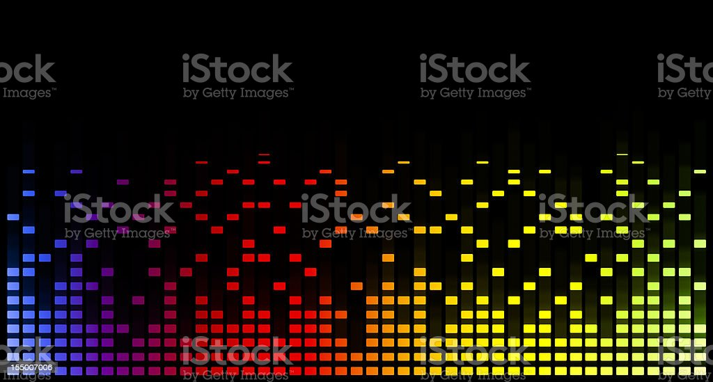music equaliser blurred graph royalty-free stock vector art