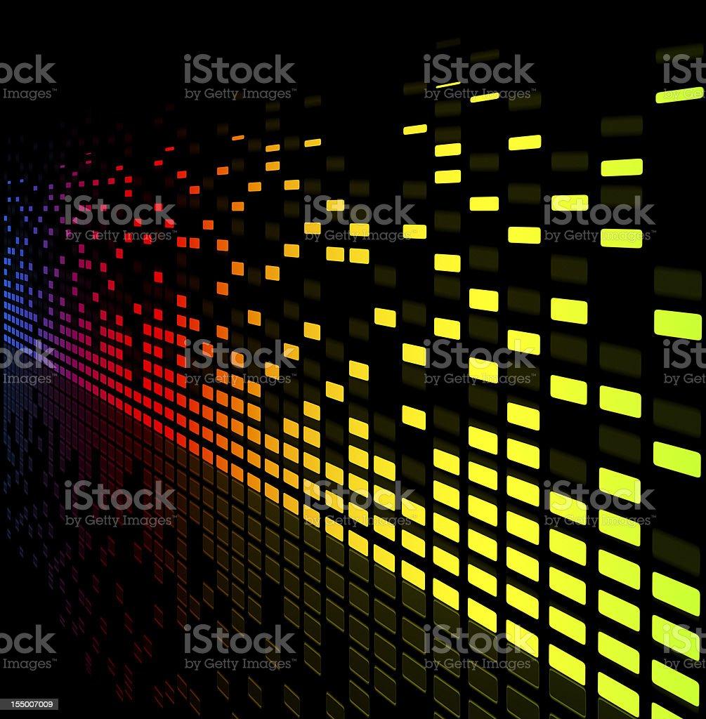 music equaliser blurred graph vector art illustration