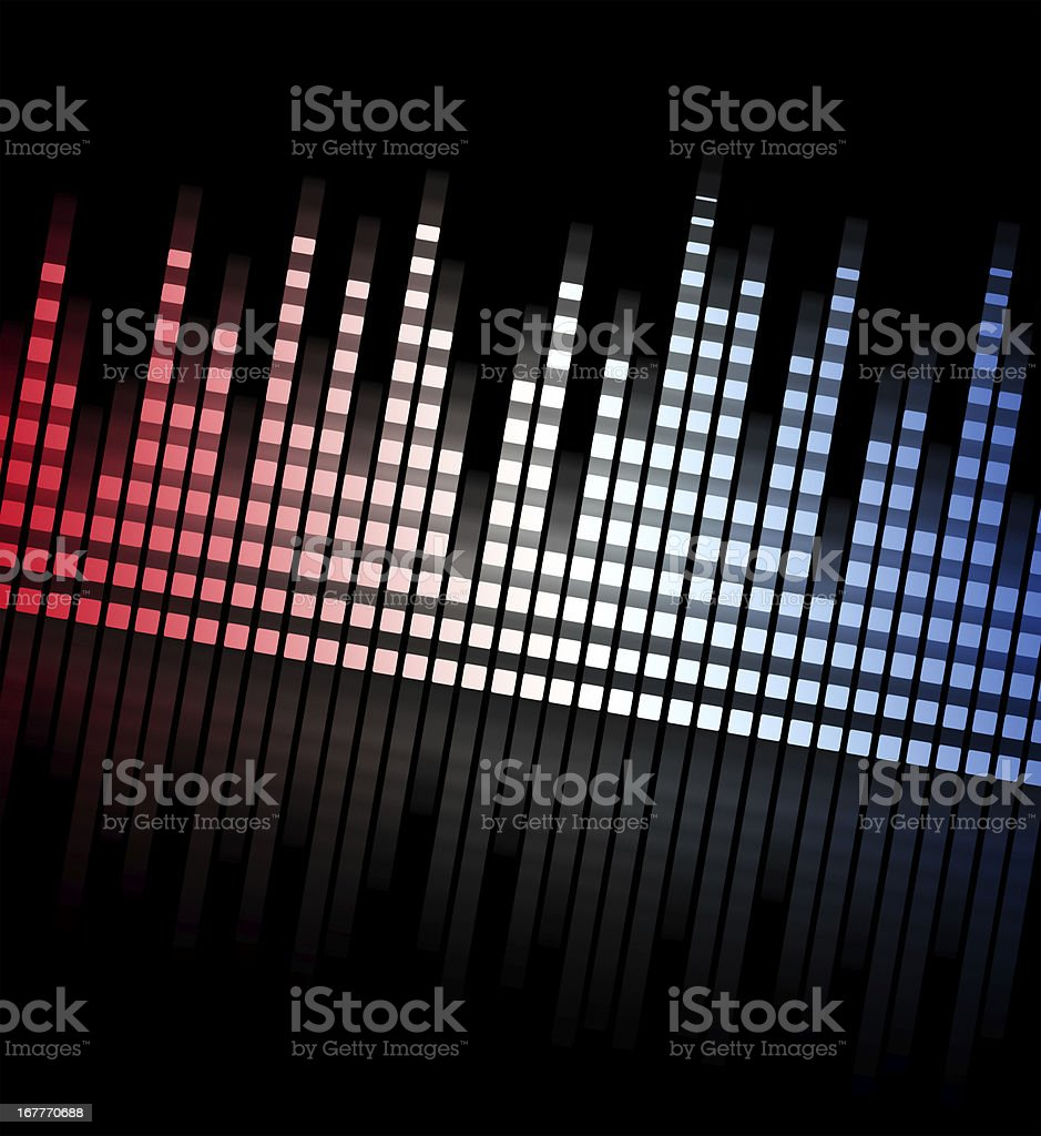 music equaliser blurred graph - sound mixer royalty-free stock vector art